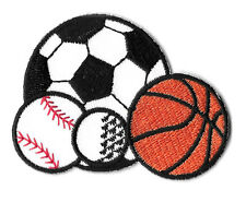 Sports - Ball - Coach - PE - Gym - Embroidered Iron On Patch - Soccer - Baseball