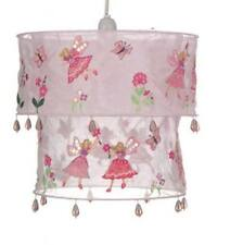 GIRLS PINK FLOWER FAIRY FABRIC 2 TIER LAMP LIGHT SHADE LAMPSHADE