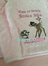 personalised dimple fleece baby blanket Bambi And Thumper
