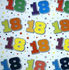 2 sheets 18th birthday gift wrapping paper wrap unisex