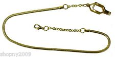 Snake Chain with Epaulet Clip - Can also be used as a whistle chain GOLD PLATED