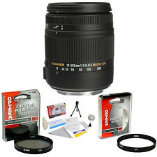 Sigma 18-250mm f/3.5-6.3 DC Macro OS HSM Lens + UV, CPL Filters & More fr Pentax