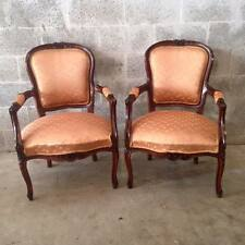 Louis XVI, French style a pair of two antique chairs