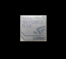 Nvidia GEFORCE GTX 1080Ti Metal Decal Sticker Case PC Laptop Sticker Badge