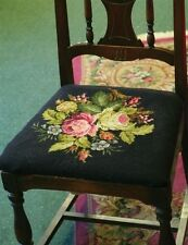 Victorian Floral Belgian Tapestry Chair Seat Cover Upholstery Free Ship NIB