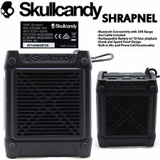 New Skullcandy Shrapnel Bluetooth Wireless Speaker with Mic Waterproof Black