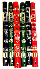 12 LOT Wood Flutes Assorted Colors Fair Trade Wholesale Lot Discount Pack Resale