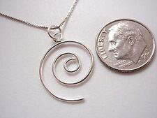 Small Spiral Wire Pendant 925 Sterling Silver Corona Sun Jewelry