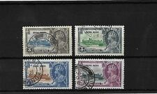 HONG KONG 1935 SILVER JUBILEE SET SG133/6 CAT £65 FINE USED