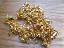 18 Pair Vintage Clip Earrings Goldtone Star W/ Stone Insert Wholesale LOT