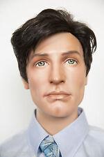 Darkest Brown with 5% Grey Grey Short Wavy Straight Men Wig