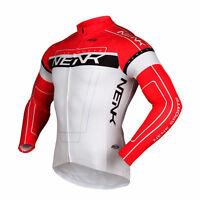Sobike- NENK COOREE Red White Cycling Long Jersey long Sleeves