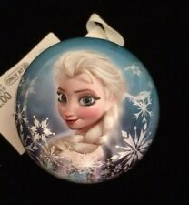 """NEW 2015 FROZEN ANNA/ELSA 8"""" ROUND HOLLOW CORE ORNAMENT CHRISTMAS OR ANYTIME"""