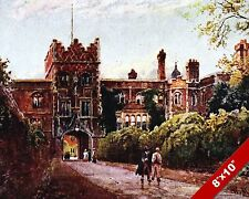 GATEWAY JESUS COLLEGE CAMBRIDGE ENGLAND ENGLISH ART PAINTING REAL CANVAS PRINT