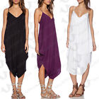 May&Maya Women's V Neck Low Back All In One Harem Jumpsuit Romper Playsuit Pants