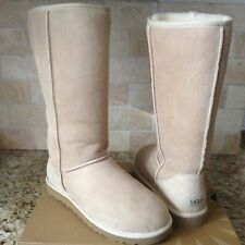 UGG Classic Tall Sand Suede Sheepskin Boots US 11 Womens