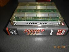 3 Count Bout (Neo Geo MVS, 1993) Cart and Shock Box