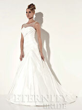 Eternity Bridal Designer Wedding Dress Style D5161 Ivory size 20