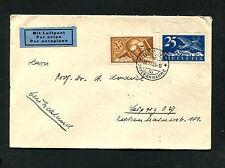 Schweiz - 35 C. Pilot auf Luftpostbrief von 1933     (#905)
