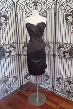V81 M.MICHAEL 88359 BLACK SZ 12 $245 #1610  FORMAL GOWN DRESS