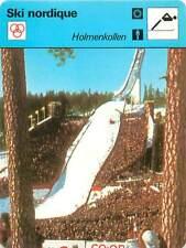 FICHE CARD: Holmenkollen  Tremplin de saut à ski Norvège  SKI NORDIQUE 1970s