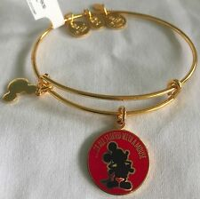 Disney Parks Alex Ani It All Started With A Mouse GOLD Mickey Bangle Bracelet