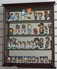Mini Bobble Head Wobbler Display Case Wall Cabinet with Glass Door, SC10-MAH