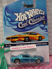 2014/2015 Hot Wheels #30 Cool Classics '10 SHELBY GT500 SUPER SNAKE✰Blue✰Orange