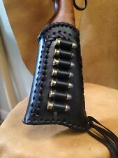 LEATHER GUN STOCK COVER/SHELL HOLDER Winchester Marlin Rossi Henry Ruger Uberti