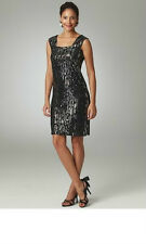 $458 EXCLUSIVELY MISOOK SEQUINED SQUARE NECK DRESS 1 XL