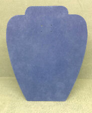 Set of 10 Jewellery Display Card Busts [A] Summer Blue Suedette