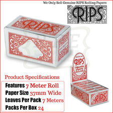 Red Rips Cigarette Rolling Papers On A Roll - 1 Full New Box - 24 Packets
