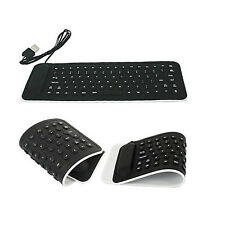 HOT Portable USB Mini Flexible Silicone PC Keyboard Foldable Laptop Notebook Bla