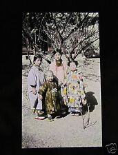 GLASS MAGIC LANTERN SLIDE GROUP OF GIRLS C1920 JAPANESE JAPAN
