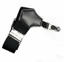 PAIR MENS SOCK SUSPENDERS GARTER HOLD UP BRACES ELASTIC CLIP BLACK