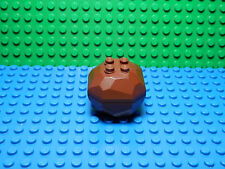 LEGO LEGOS  -  One NEW  Rock Boulder ( 2 PIECE ASSEMBLY)  Reddish Brown - Castle