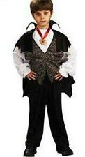 New Scary Vampire Count Dracula Costume Children Child Boys Kids M 7-8 FREE GIFT