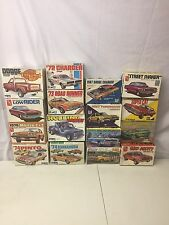 Lot of 16 Vintage Model Car Kits Revell MPC AMT 1/25 Buick Chevy Dodge Plymouth