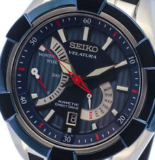NEW MEN'S SEIKO VELATURA KINETIC 100M DIRECT DRIVE SAPPHIRE WATCH SRH017P2