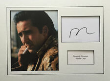 NICOLAS CAGE AUTHENTIC SIGNED 16X12 MOUNTED DISPLAY AFTAL & UACC [12760]