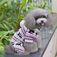 Lovely Pet Dog Puppy Cute Winter Soft Sweater Hoodie Jumpsuit Clothes Outwear N