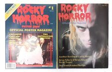 Set of Vintage Rocky Horror Picture Show Official Poster Magazine #1-2- Fold Out