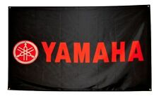Yamaha Red Black Flag 3x5 Banner Poster R1 R6 Motorcycle Honda Ducati