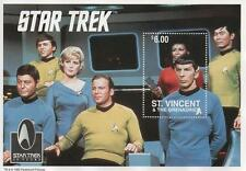 "STAR TREK 30 YEAR ANNIVERSARY 1995 ST VINCENT 6"" x 4"" MNH STAMP SHEETLET"
