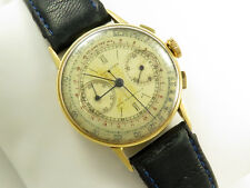 Rare Vintage LONGINES 18K GOLD FLYBACK CHRONOGRAPH 13ZN Year 1940
