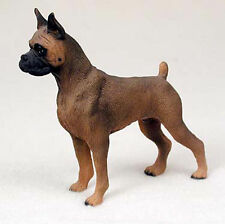Tawny Boxer Hand Painted Dog Figurine Statue