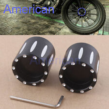 Black Contrast Cut Front Axle Nut Cover F Harley Sportster Dyna Softail Touring