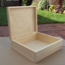 PLAIN WOOD -WOODEN SOUVENIRS BOX / ART CRAFT/ DECOUPAGE 28 cm x 23cm x9 cm