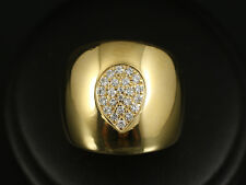 Massiver Breiter Brillant Ring ca. 0,29ct  21,3g 750/- Gelbgold