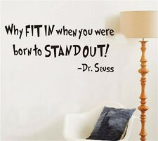 Dr. Seuss Inspiration Today You Are Art Letters Mural Wall Sticker Decals Home